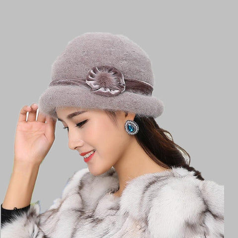 Wool Women Bowler Winter Hat Fedora Bucket Cloche Round Cap - eileenshoppingdeals