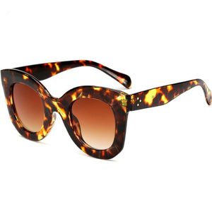 Long Keeper Brand Designer Women Square Retro Men Sunglasses 2018 Fashion Oversided Lady Leopard Frame New Eyewear AM6856