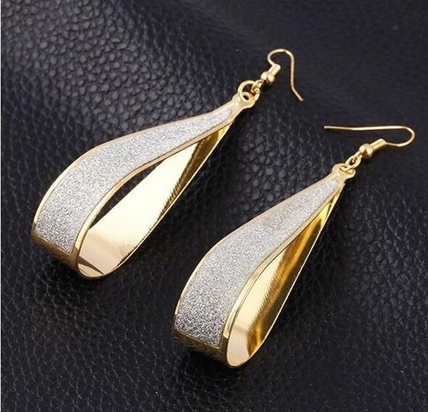 Dangle Water Drops Earrings For Women Silver Long Earrings Jewelry - eileenshoppingdeals
