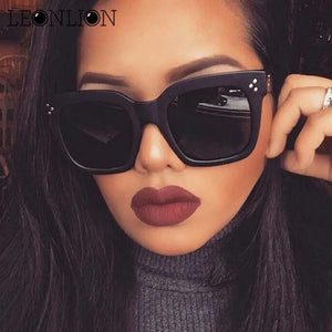 LeonLion 2018 Fashion Square Sunglasses Women Designer Luxury - eileenshoppingdeals