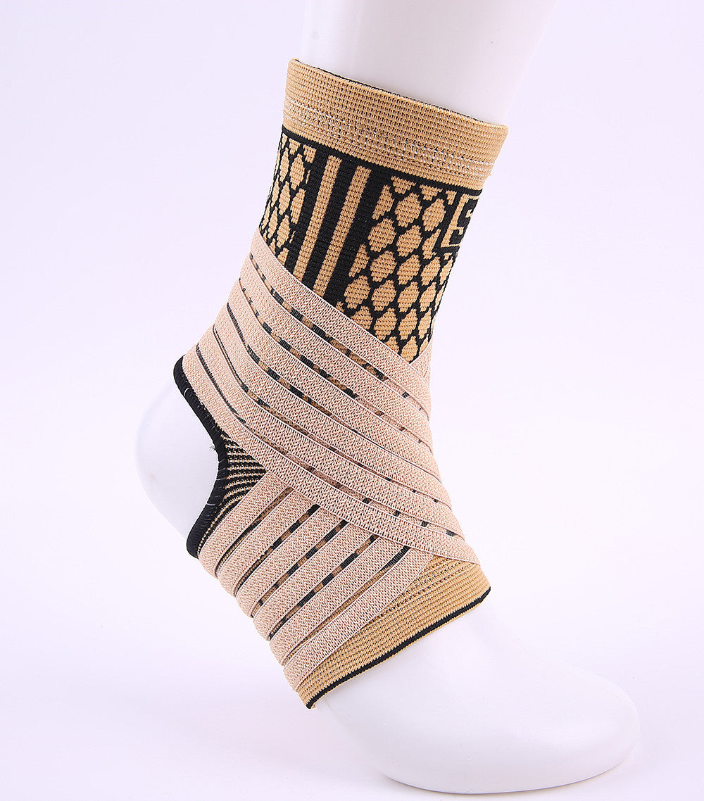 High elastic bandage compression knitting sports protector basketball soccer ankle support brace guard  #ST3779 - eileenshoppingdeals