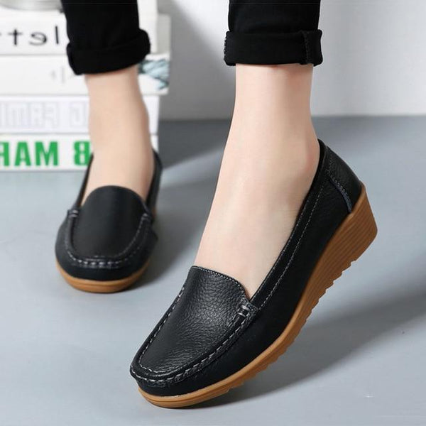 Genuine Leather Shoes for Women 4.3CM - eileenshoppingdeals