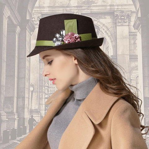 Wool Hat Ladies Elegant  Winter Hats Middle-aged - eileenshoppingdeals