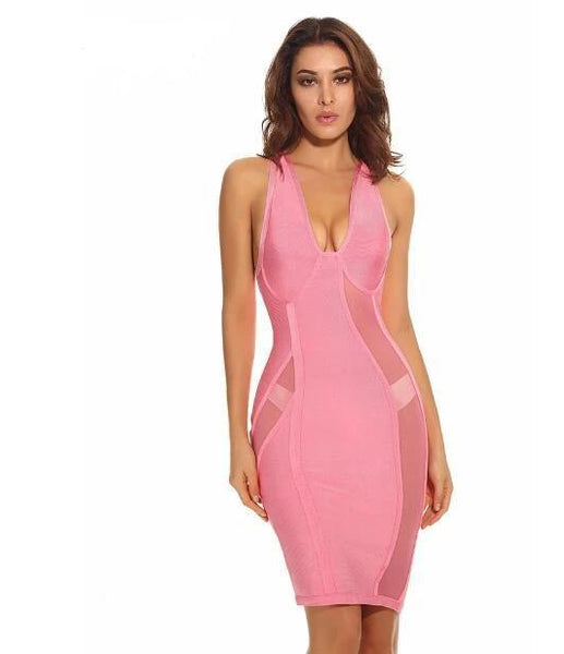 ONLY 11.8~11.10!!!MESH RAYON HIGH QUALITY BANDAGE DRESS - eileenshoppingdeals