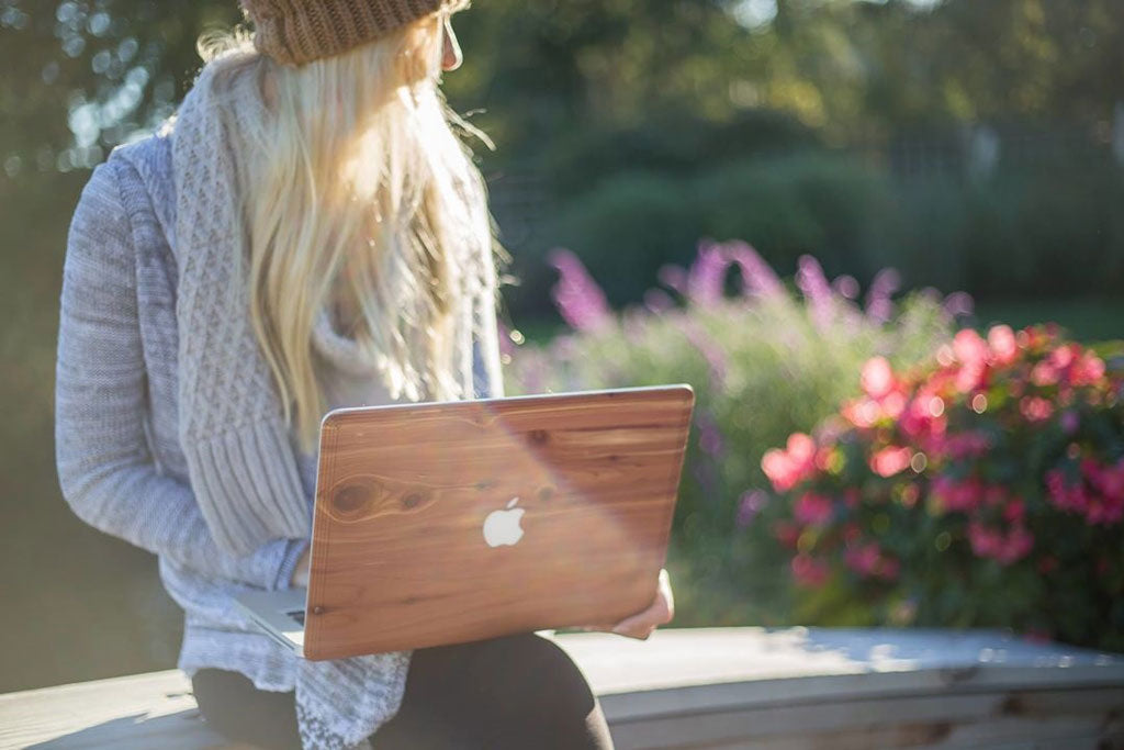 Aromatic Cedar Wood MacBook skin