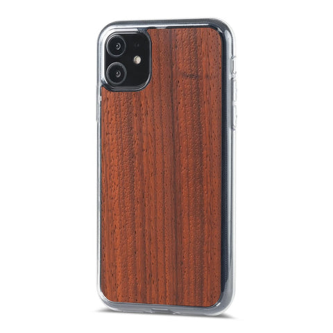 iPhone 11 Pro Max —  #WoodBack Explorer Clear Case