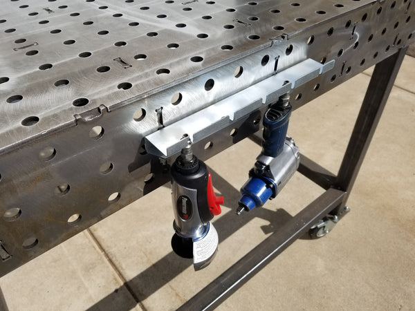 ACC-200-2 fabStorage 5 Slot Air Tool Holder for WeldTables
