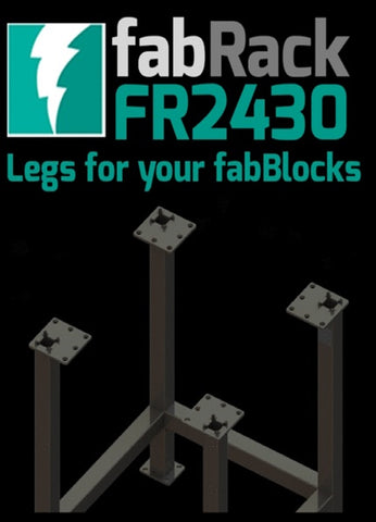"FR2430-U 24""X30"" fabRack CNC Tube Laser Leg Kit for fabBlocks"
