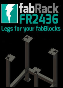 "FR2436-U 24""X36"" fabRack CNC Tube Laser Leg Kit for fabBlocks"