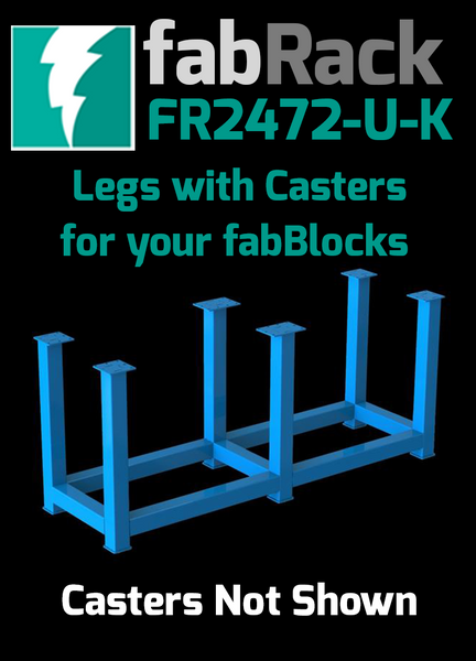"Certiflat 24""X72"" FabRack with Casters for FabBlock"