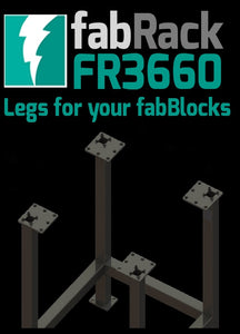 "FR3660-U 36""X60"" fabRack CNC Tube Laser Leg Kit for fabBlocks"
