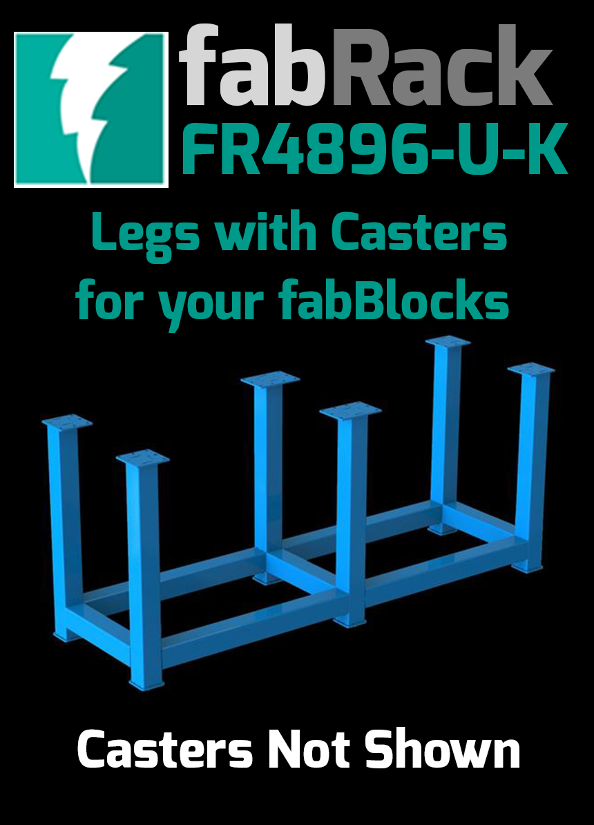 "Certiflat 48""X96"" FabRack with Casters for FabBlock"