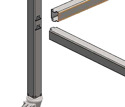 "Certiflat 24""X48"" Heavy Duty Leg Kit"