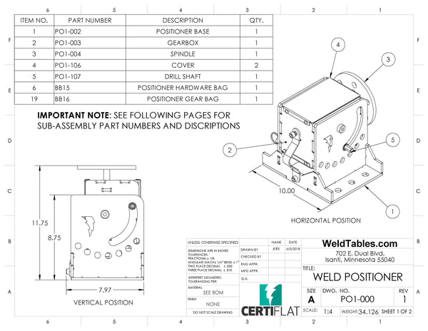Welding Positioner - CertiFlat DIY Turning Positioner