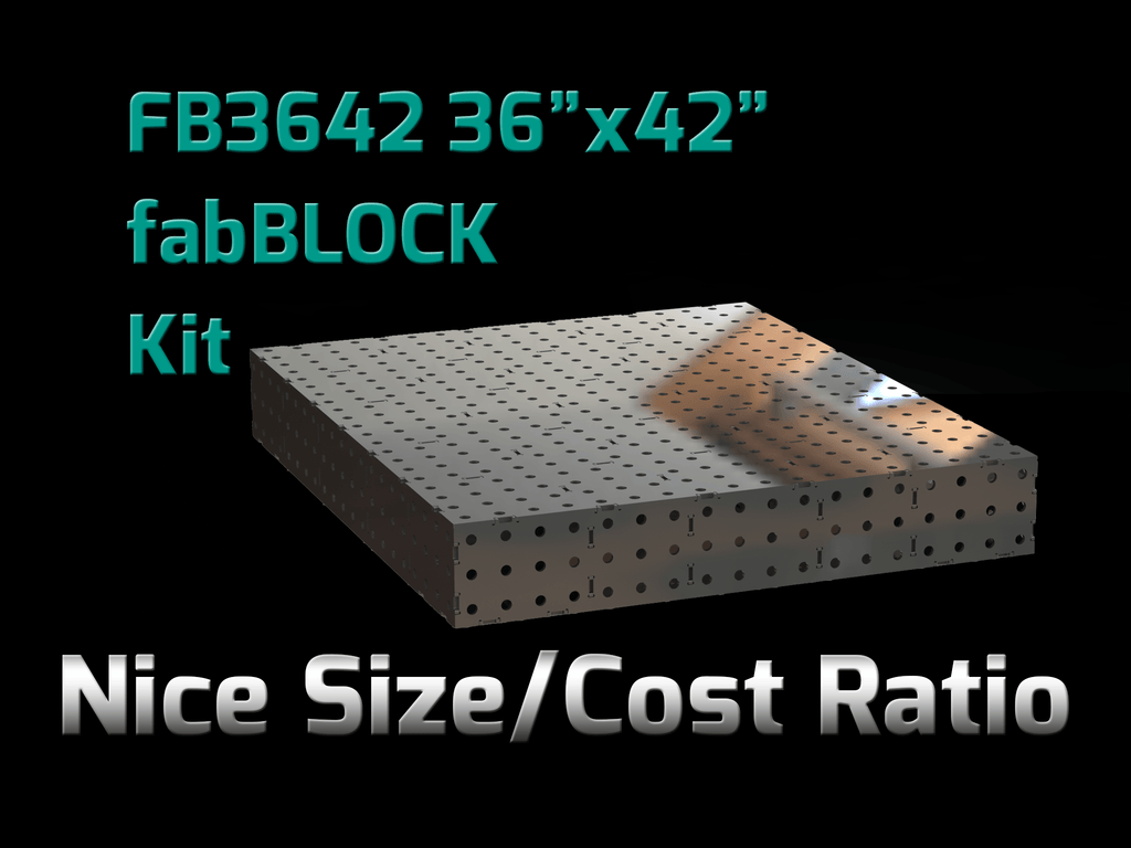 FabBlock Kit - CertiFlat FB3642 FabBlock U-Weld Kit Modular Welding Table
