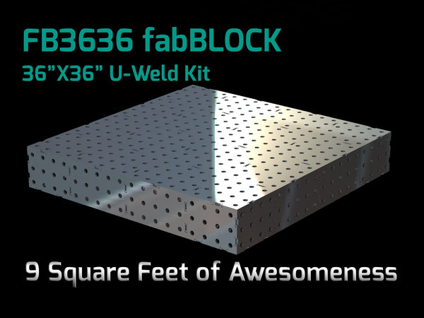 FabBlock Kit - FB3636 CertiFlat FabBlock U-Weld Kit Modular Welding Table