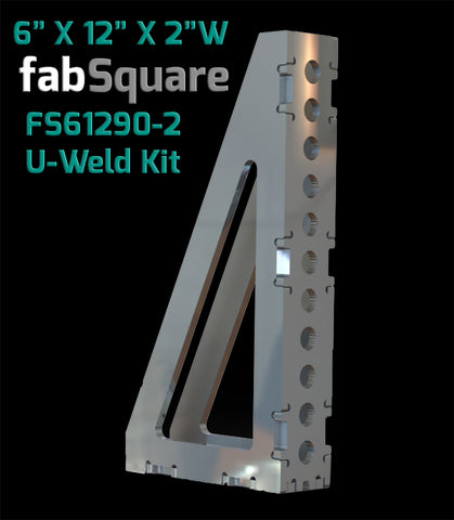 "FS61290-2  6""X12""X FabSquare U-Weld Kit 2"" Wide 90 Degree"