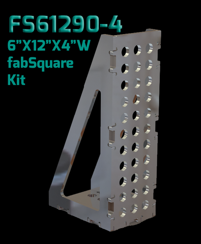 "FS61290-4  6""X12""X4"" Wide  U-Weld FabSquare Kit 90 Degree"