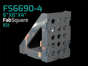 "FS6690-4  6""X6""X4"" Wide 90 Degree FabSquare U-Weld Kit"