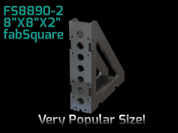 "FS8890-2  8""X8""X2"" Wide 90 Degree FabSquare U-Weld Kit"