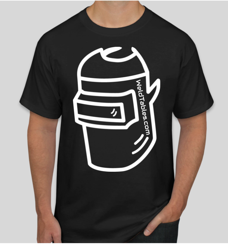 NEW! Certiflat Weldtables.com Helmet T-shirt