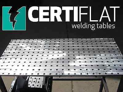 Pro Welding Table Kit - 3'X4' Large Heavy Duty Welding Table Top Kit-CertiFlat By Tab & Slot U-Weld