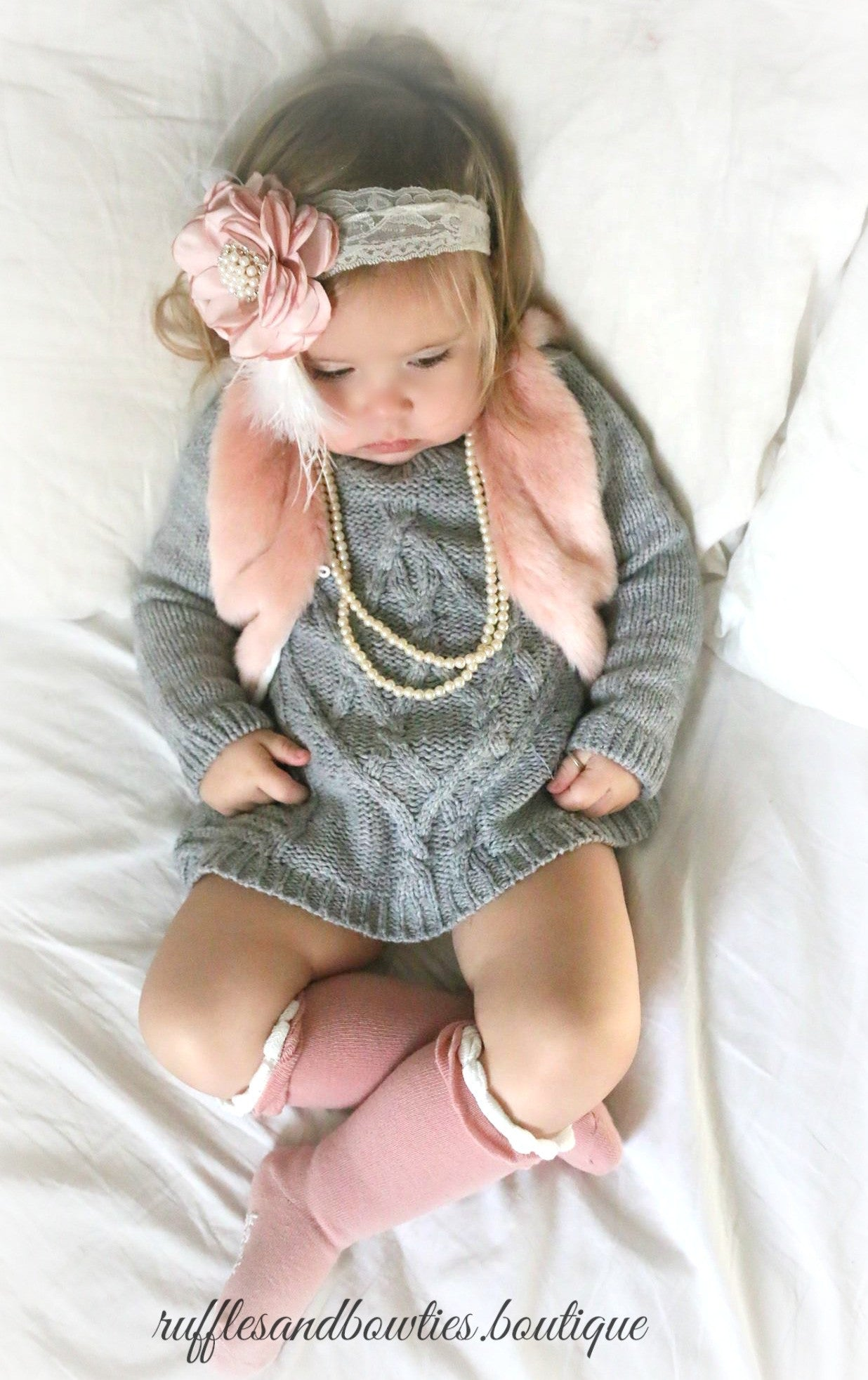 Toddler Fur Vest Girls BOHO Hippie Faux Fur Vest