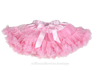 kryssi kouture Princess Pink Soft Petti Tutu Skirt Bloomers - Ruffles & Bowties Bowtique - 1 - canada - usa pettiskirt - wholesale