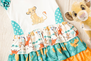 Lion Ruffles Theme Park Inspired Dresses