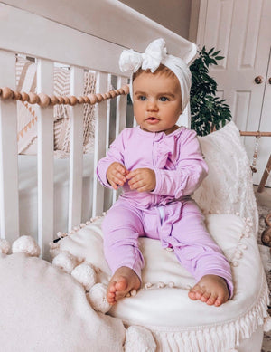 Purple Ruffle Jumpsuit/Sleeper