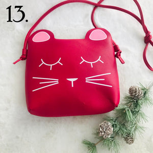 Hot Pink/Red Girls Cat Purse