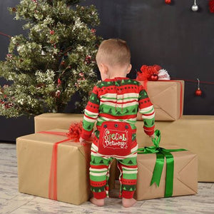 Lazy One Infant Special Delivery Flapjack Pajamas Family Jammies Holiday Matching Pajamas Christmas Family PJS