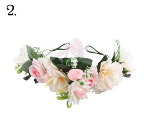 Floral Wreath - White & Pink