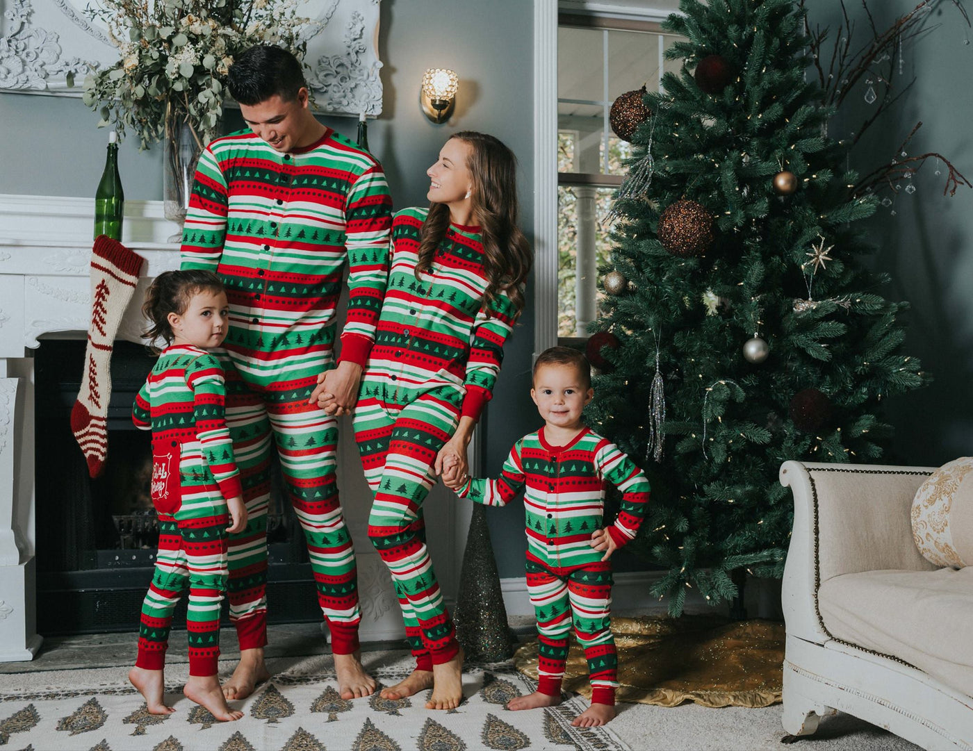 b05e043046 ... Lazy One Adult Special Delivery Flapjack Matching Christmas Pj s - Family  Matching Christmas Pajamas - Christmas ...