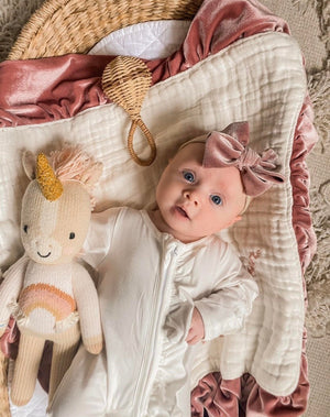 Exclusive Kryssi Kouture - Sadie Ivory/White Zippie Jumpsuit/Sleeper