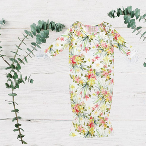 Baby Hawaiian Floral Sleep Gown
