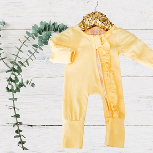 Exclusive Kryssi Kouture - Sadie Yellow Zippie Jumpsuit/Sleeper