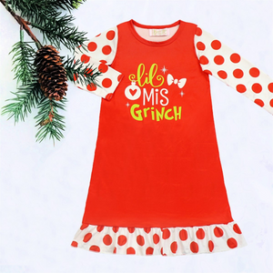 Girl's Lil Miss Grinch Nightgown