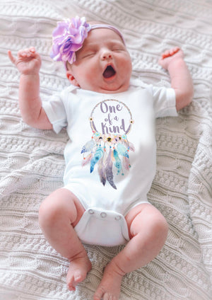 Kryssi Kouture One Of a Kind Boho Baby Onesie