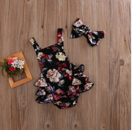 Magdalena Floral Ruffle Romper