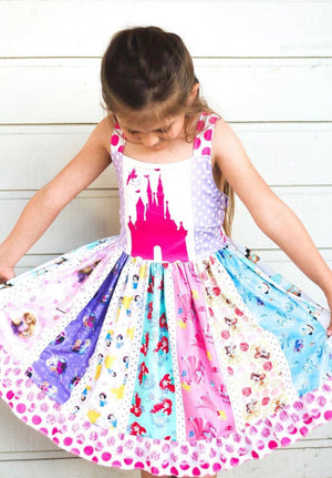 Pink Castle Princess Spin Twirl Dress