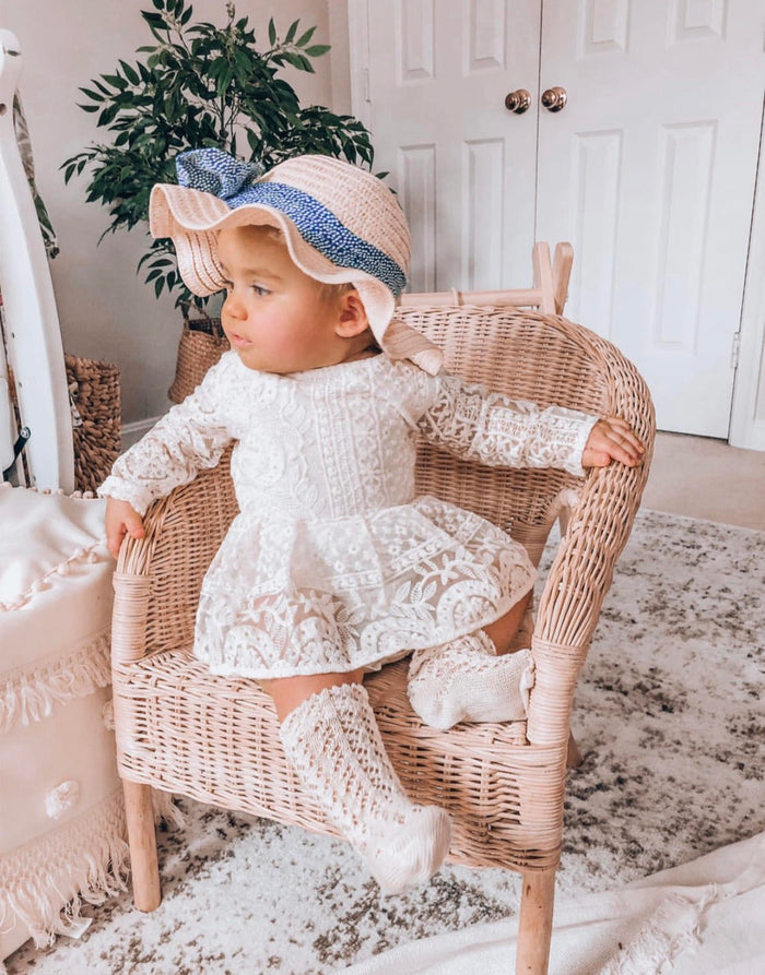 Stacey Lynn Ivory Lace Romper