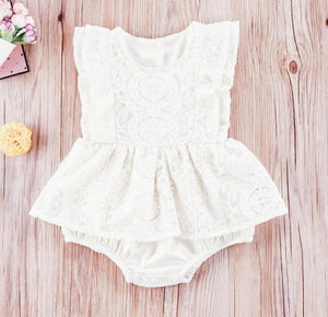 Stacey Vintage Lace Romper - NO SLEEVES