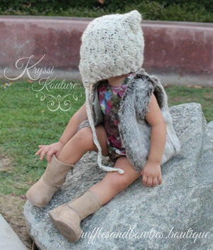 Pre-Order US ONLY - Baby Girl Boho Faux Fur Fall Vests -The Faux Fur Vest - Baby Vest - Kids Vest - shower gift - birthday present-Baby Clothing -modern faux fur -shrug - vest - Ruffles & Bowties Bowtique - 4