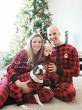 Lazy One Youth & Adult Buffalo Plaid BEAR CHEEKS Flapjack Matching Christmas Pj's