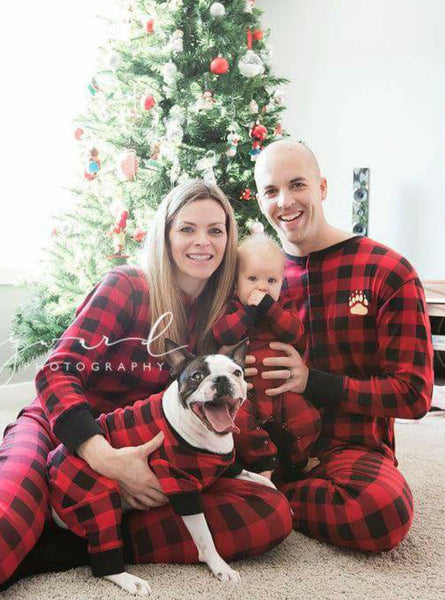 Matching Christmas Pjs Bear Cheek Flap Jack Onesies By