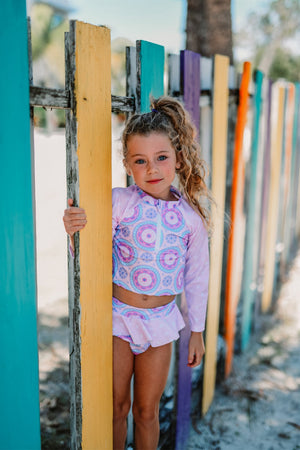 Girls Bathing Suits - Purple Medalia