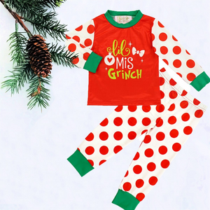 2 Pc Girl's Lil Miss Grinch PJs
