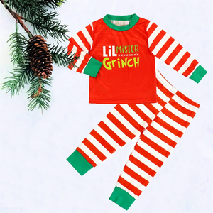 2 Pc Boys Lil Mister Grinch PJs