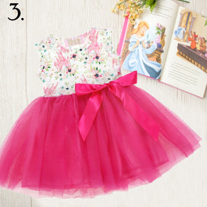 Hot Pink Castle Tulle Tutu Dress